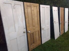 8x Victorian 4 Panel Solid Pine Reclaimed Heavy Internal Doors