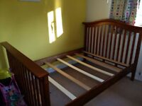 Convertible Cot Bed/Toddler Bed/ Full Size Double with both mattresses