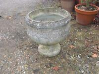 Concrete Planters Urns (a pair) - Large (Round)