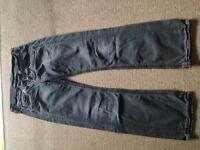 Replay Jeans grey boyfriend cut 27w 32leg
