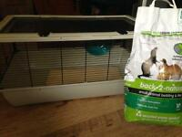 Hamster cage + bedding