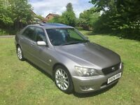 2004 LEXUS IS200 2.0 LE 6 SPD MANUAL, NEW TIMING BELT/ WATER PUMP, HISTORY, SUNROOF, GOOD CONDITION