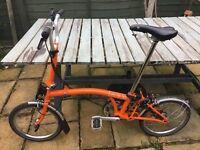 Brompton M3L 3 speed folding bike