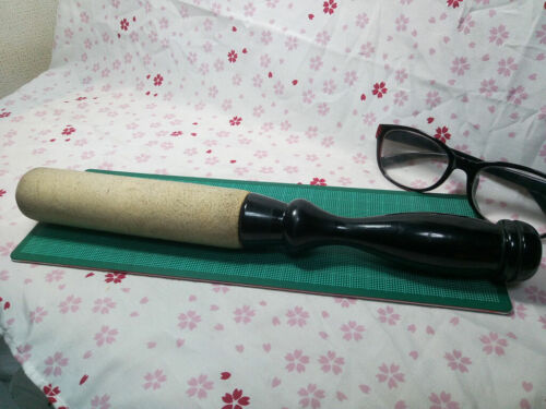 "HUGE 12.4"" Japanese Buddhist Bell Striker Stick ST006"