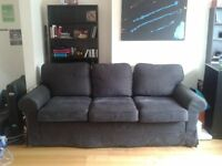 IKEA black sofa - washable cover