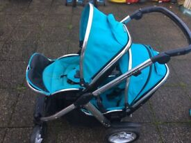 Double Oyster pushchair turquoise