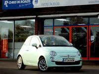 FIAT 500 1.2 LOUNGE 3dr * Pan Roof * * Bluetooth + AC + 1 L (green) 2014