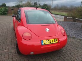 VOLKSWAGEN BEETLE 1.6 (Red) Bright clean, perfect drive, minor marks on bumper