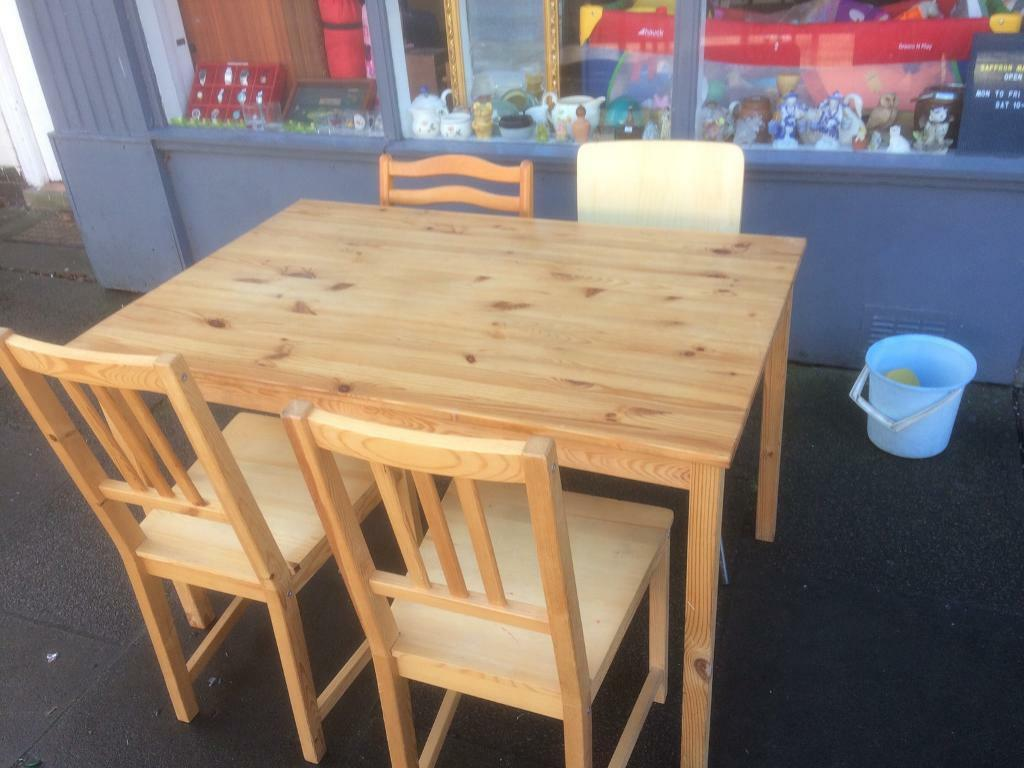 Dining table and chairs in leicester leicestershire gumtree