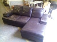 Leather corner sofa and arm chair REF:GT033
