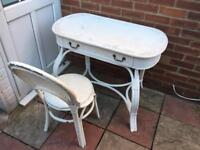 Vintage shabby chic dressing table with chair
