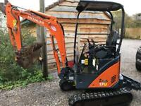 Mini digger dumper hire Bristol JWL plant ltd