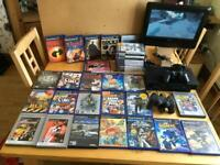 PS2 35 Games 2 Controllers