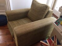 Armchair and Very Large Footstool made by Heals