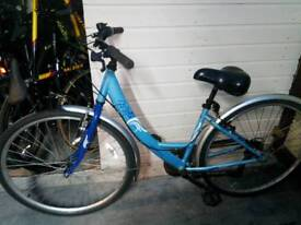 Hybrid blue ladies bike