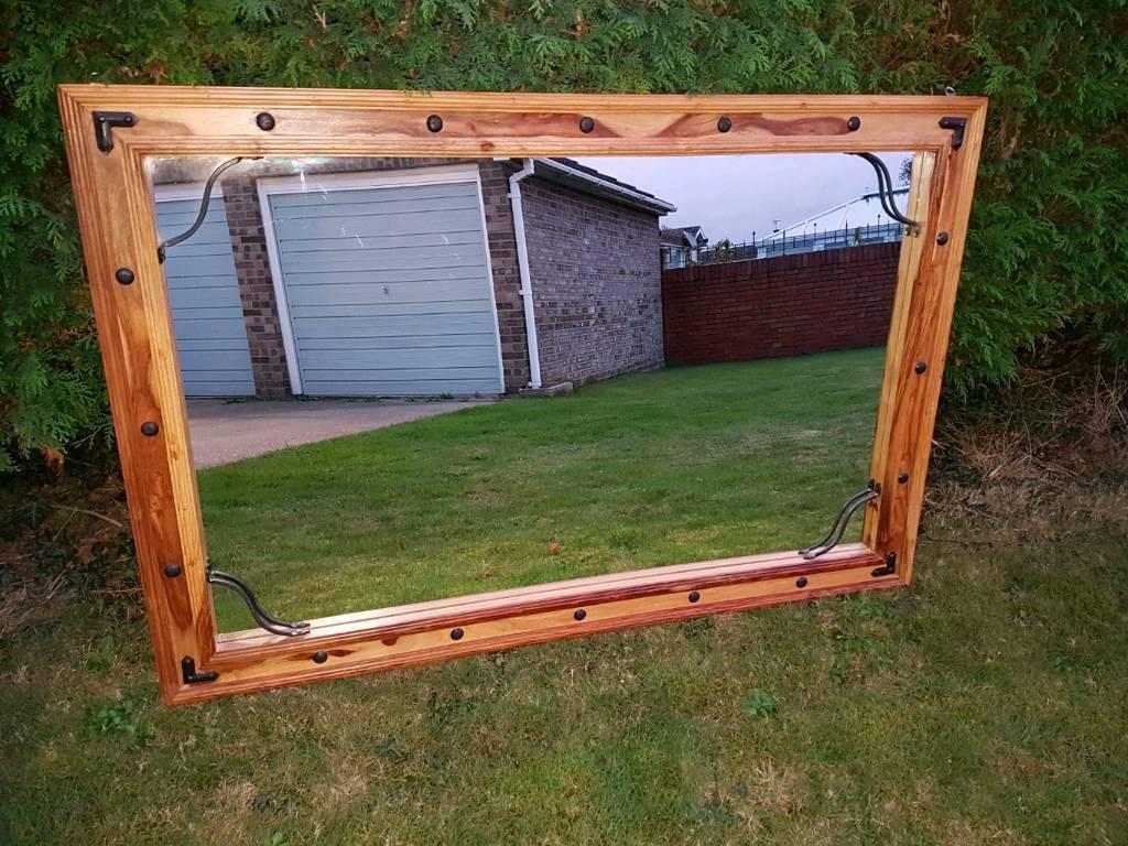 Large Hardwood Mirror