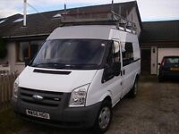 Camper Van sleeps 2 seat 6 people fully kitted out + snow tyres/rims + upright roof rack