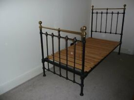 Bedstead, Iron & Brass, Victorian, Superb REDUCED!!
