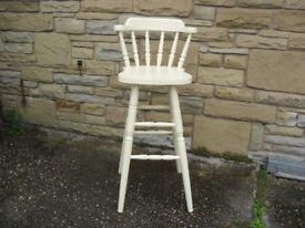 Shabby Chic Farmhouse Country Bar Stool / Chair In Farrow & Ball Cream No 67