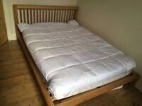 John Lewis Morgan king size bed (solid oak)