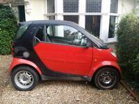 Red Smart FourTwo Pure - Not Running - for project or spares
