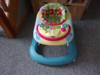 """USED TWICE """"CHICCO"""" GIRLS BABY WALKER EXCELLENT CONDITION"""