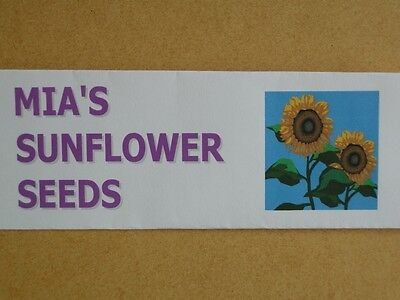 PERSONALISED SACHET of 10 SUNFLOWER SEEDS – GREAT CELEBRATORY PRESENT / GIFT