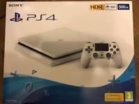 Brand new sealed white slim PS4 full warranty and receipt
