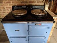 Aga, Rare, Wedgewood blue natural gas, two door and accessories.