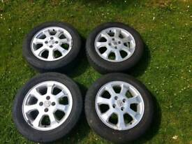 4 set Vauxhall Alloys and 195/60R15 tyres