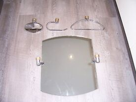 Chrome and Brass Bathroom Accessories