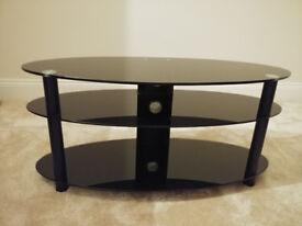 Stylish Oval TV DVD Blu-Ray Stand