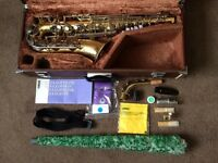 VINTAGE YAMAHA STUDENT/INTERMEDIATE SAX/SAXOPHONE : a sought after YAS-23 VGC + various extras