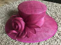 Pink Formal Occasion Hat - Wedding, Ascot, Racing