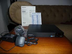 DVD-Player Sony BDP-S3500, Blu-ray Disc wifi, receipt Jan 2016 (£69), hardly used