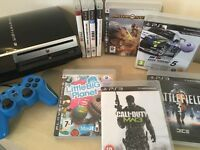 GREAT BUNDLE - PS3 Console 80GB + Controller + 9 Great Games inc Battlefield 3 Motorstorm & More