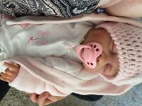 Lovely reborn baby life like collectable doll