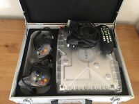 Xbox one clear with 2 controllers & metal carry case