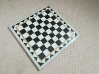 Chess board, Marble.