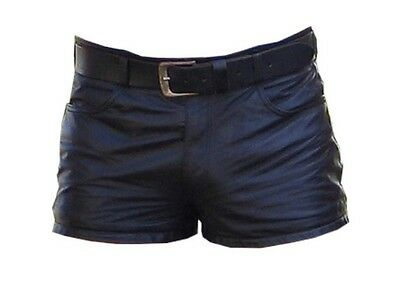 Men's Leather Shorts Five Pockets Model New All Sizes