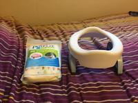 Potty training pottete plus and unopened pack of liners
