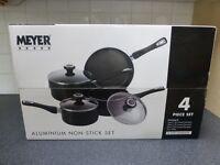 Meyer 4 Piece Aluminium Saucepan Set