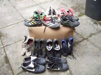 12 pairs of football boots / astro turf trainers
