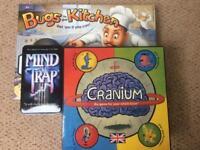 Selection of 3 Games -Cranium, Bugs Kitchen, Mind Trap