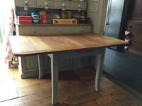 Shabby chic vintage extend inning dining table Annie Sloan Paris grey