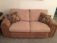 2 seater sofa bed and matching 3 seater sofa DFS suite