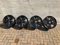 "Genuine BMW M Sport OEM 4 x Black Alloy Wheels 18"" (Staggered) - Style 386M"