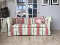 3 seater traditionally made Jane Churchill Sofa