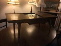 Appealing Vintage Retro G Plan Style Teak Sliding Glass Top Coffee Table 1960s