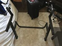 2 Tier Quik Lok M/91 The Monolith Single-Tier Keyboard Stand - Black